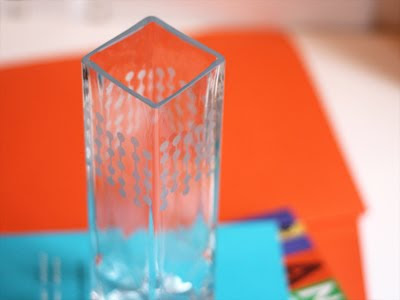 glass etching with a punched pattern how about orange. Black Bedroom Furniture Sets. Home Design Ideas