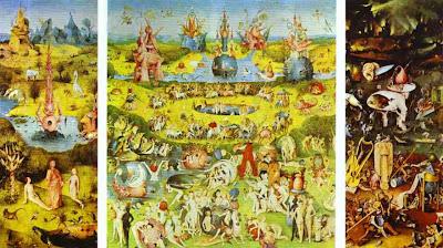 Imagen del cuadro de El Bosco, El jardín de las delicias, imagen usada para el comentario de la Academia de dibujo y pintura, Artistas6 de Madrid.