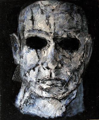 Jason, cuadro de la serie de terror de Juan Sánchez Sotelo. Academia de dibujo y pintura Artistas6 de Madrid. Clases y cursos para aprender a pintar.
