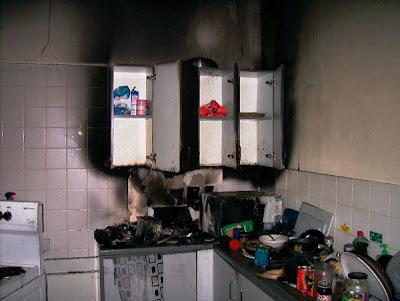 Burnt kitchen