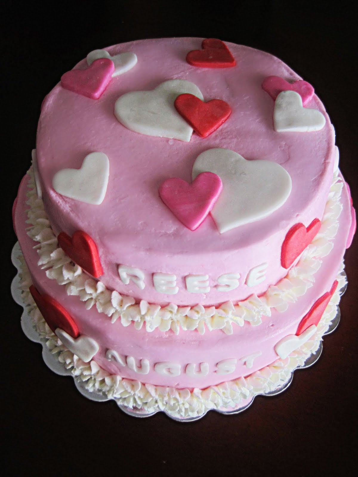 Have A Piece Of Cake Valentines Theme Birthday Cake