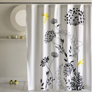 Yellow And Red Curtains Yellow Bathroom Shower Curtain