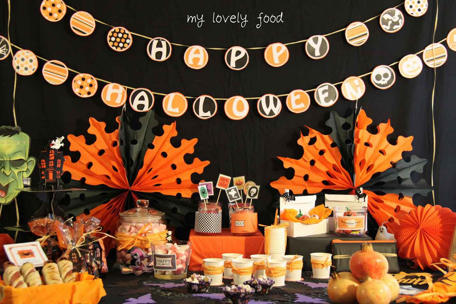 My lovely food halloween i - Decoracion de halloween para fiestas ...