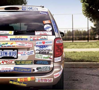 Bumper stickers cause road rage