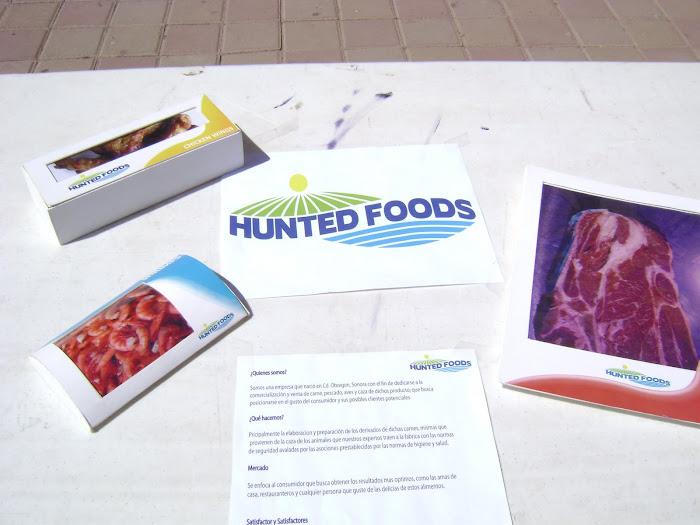 """Diseño de Marca  """"HUNTED FOODS"""""""