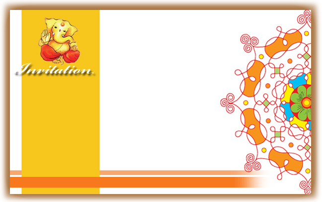 Hindu Wedding Invitations card designed especially in traditional look size