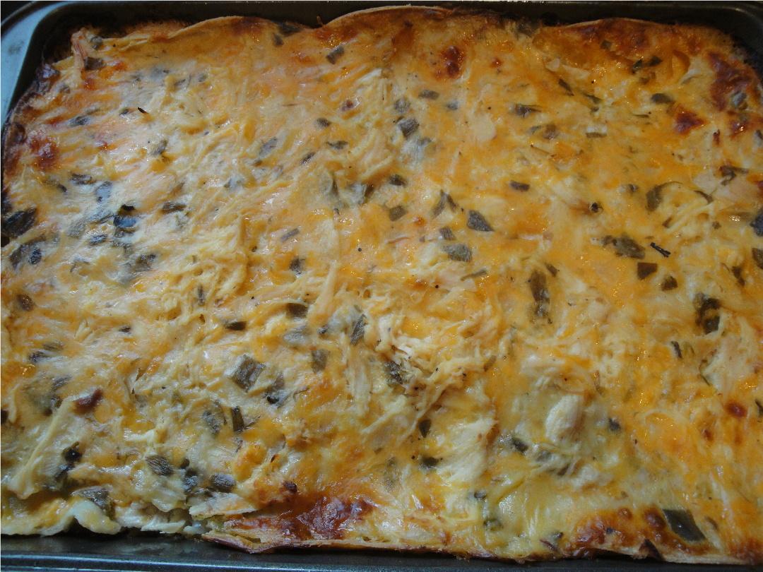 Fairytale Feasts: Fairytale Green Chili Chicken Tortilla Pie