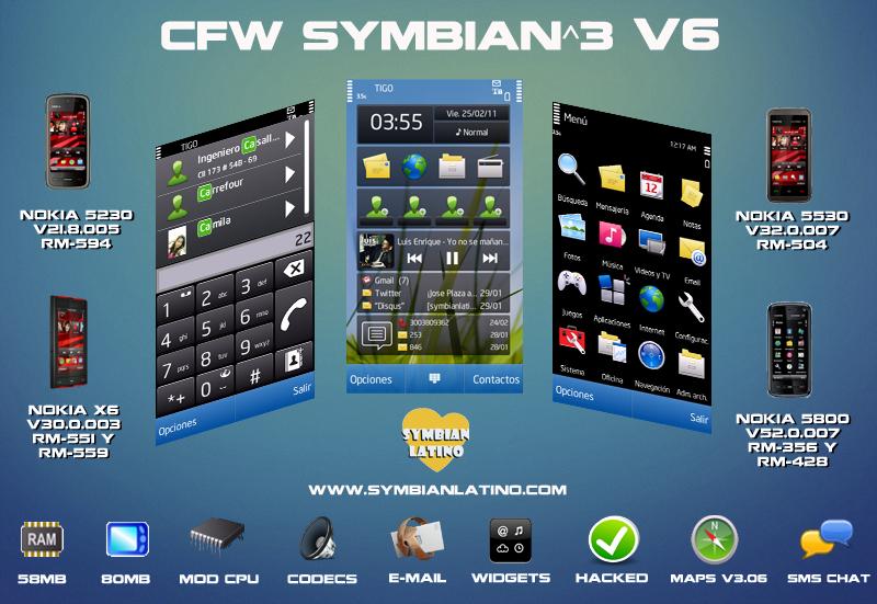 CFW Symbian^3 v6 para Nokia 5800 5230 5530 y X6