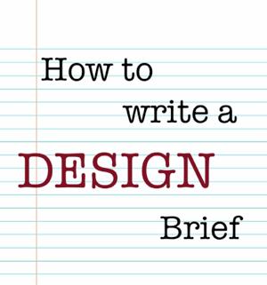 How to write a brochure design brief