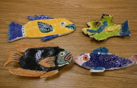 What are we doing in art today clay fish sculpture for Clay koi fish