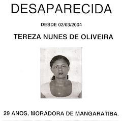 DESAPARECIDA MORADORA DE MANGARATIBA  -  RJ  DESDE 02/03/2004