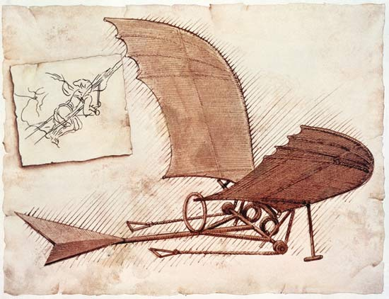 Da Vinci Airplane Leonardo Had An Idea Not Only For A Flying Machine