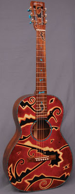 раскрашенная гитара