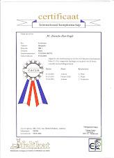 Certificaat  Internationaal Kampioenschap dekkater