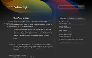 Gotham Nights Premium Quality Dark Blogger XML Template