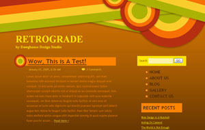 Retrograde Colorful Retro Vintage Blogger XML Template