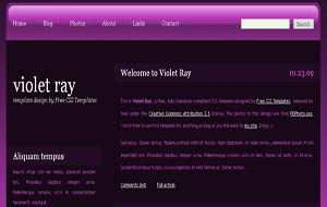 Violet Rays Fast Loading Dark Blogger XML Template