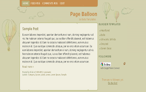 Page Balloon 2-column Blogger Template