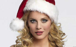 Beautiful Christmas Babes Wallpapers