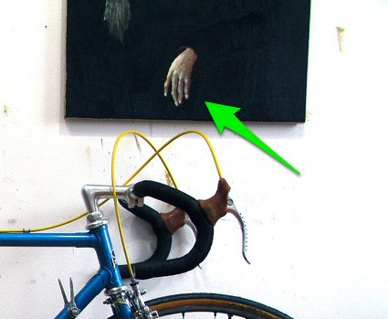 The disembodied hand has become a mainstay of amateur bicycle portraiture.