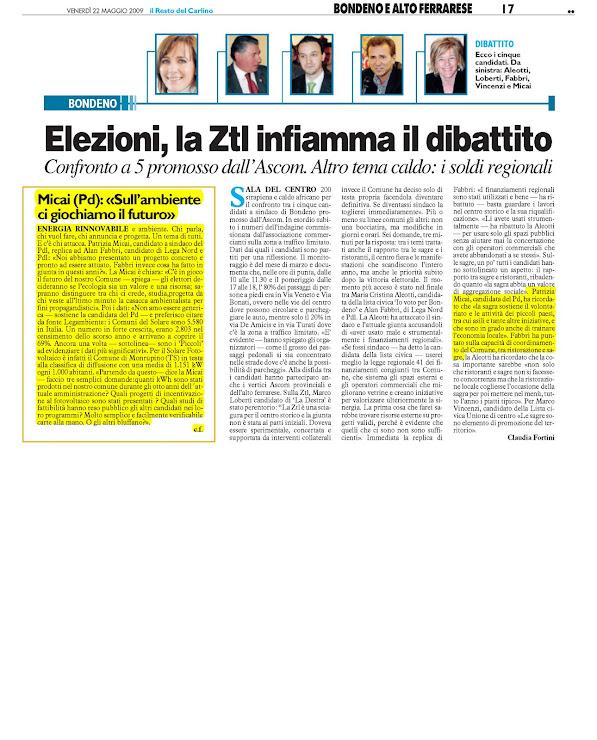 Patrizia micai sindaco di bondeno for Camera deputati rassegna stampa