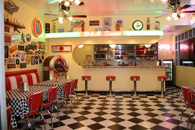 Retro diner stuff on pinterest diners homer laughlin for 50s diner style kitchen