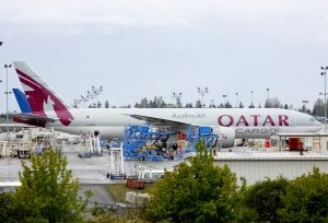 The Boeing Tour A7-BFA Qatar Cargo 777F