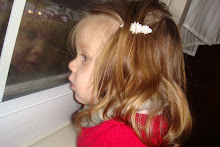 Maddie looking out Grams window    December 2007