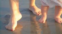 Toes on the beach  -  Grandma & Maddie