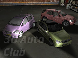 3D Cars Models - Mercedes Cars