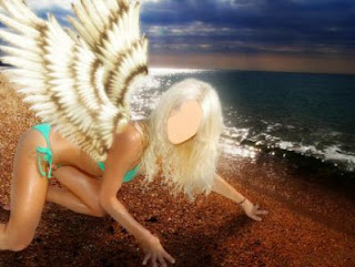 Template for Photoshop - Angel