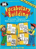 Book Cover: [share_ebook] Vocabulary building: With antonyms, synonyms, homophones and homographs (Super Duper series workbook)