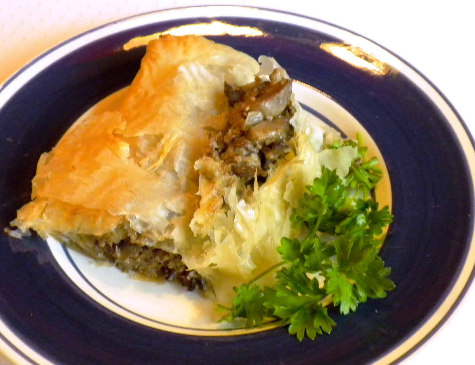 Mushroom Strudel and The Berghoff