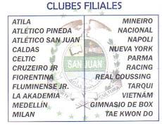 CLUBES FILIALES DE LIGA DEPORTIVA BARRIAL SAN JUAN