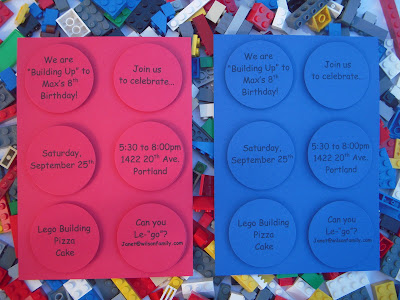 Lego Invitation Ideas