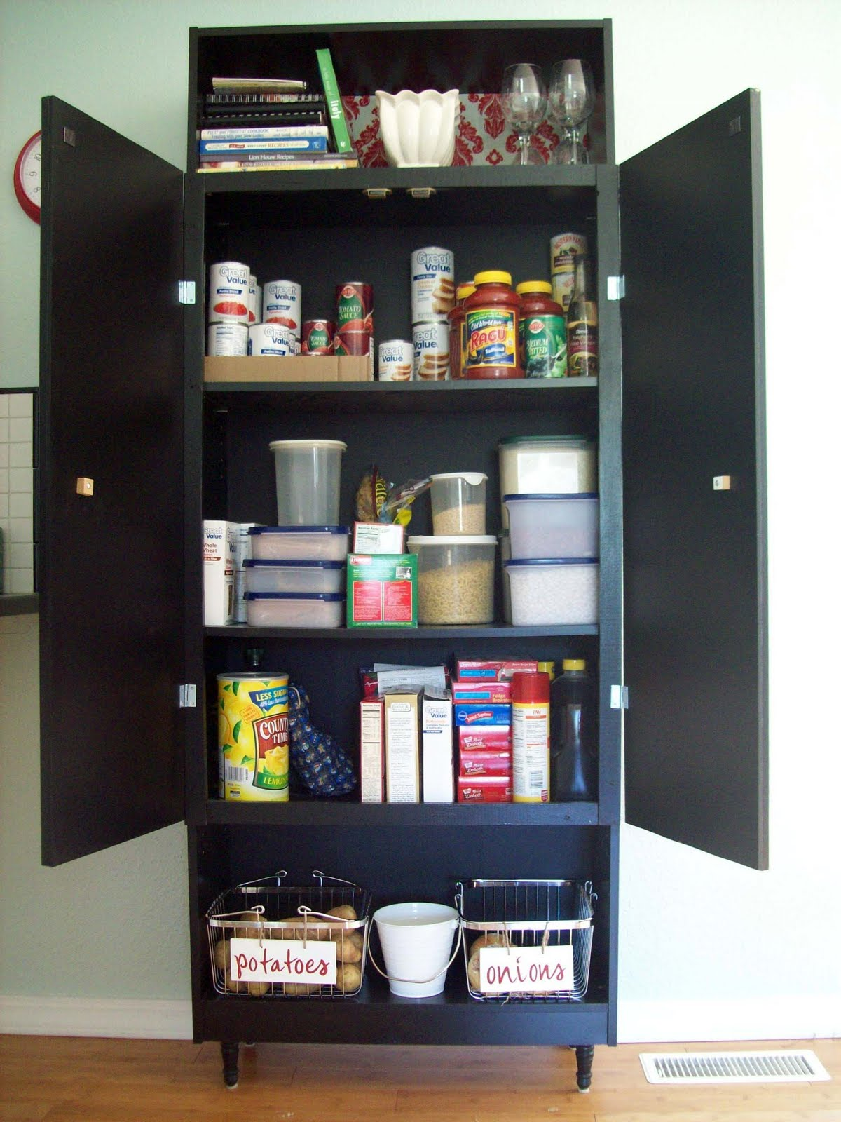 Running With Scissors: Mini Cellar Shelf on the Pantry