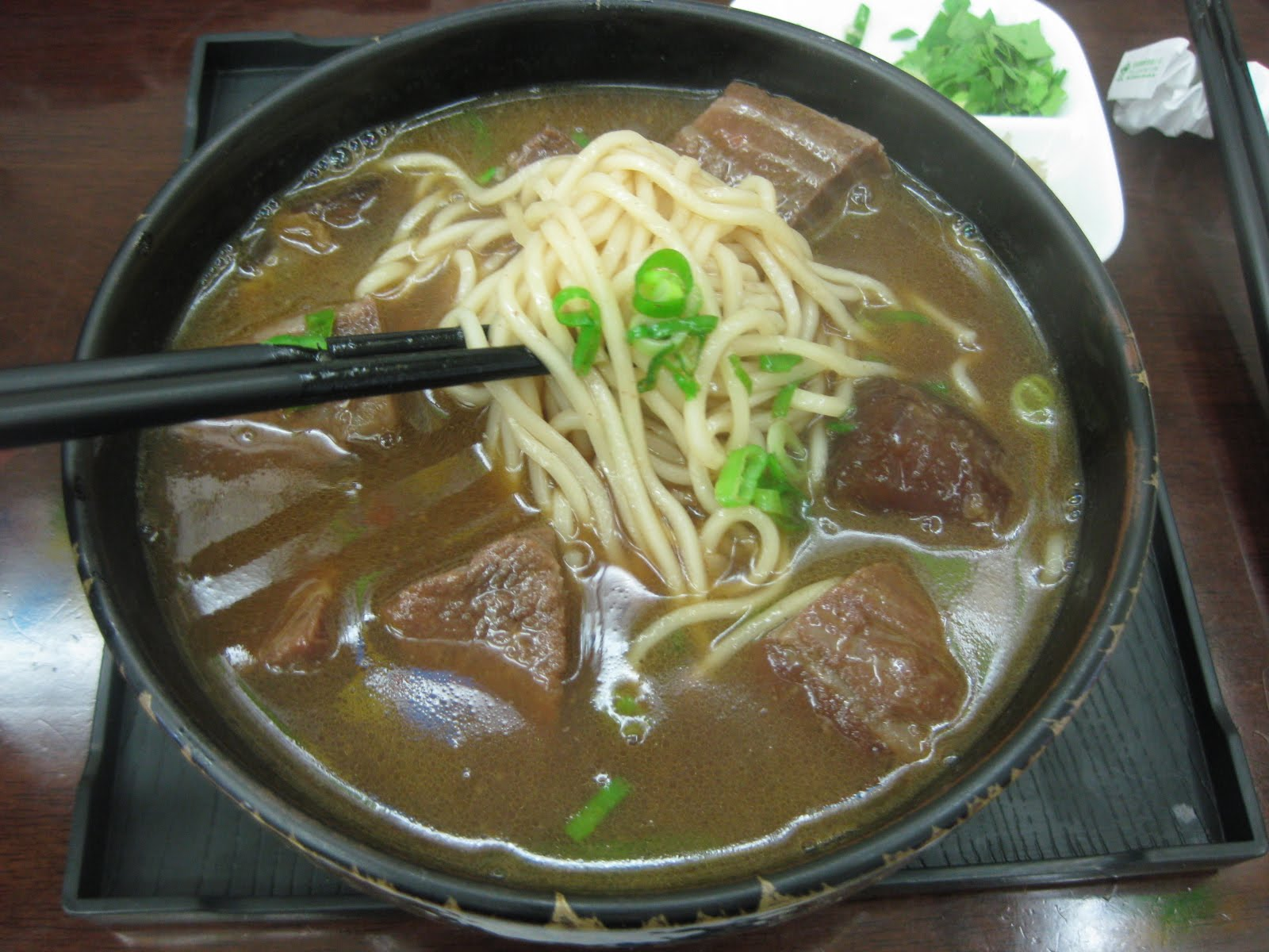 Taiwanese beef noodle soup, 牛肉麵!