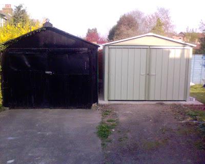 New aluminium garage