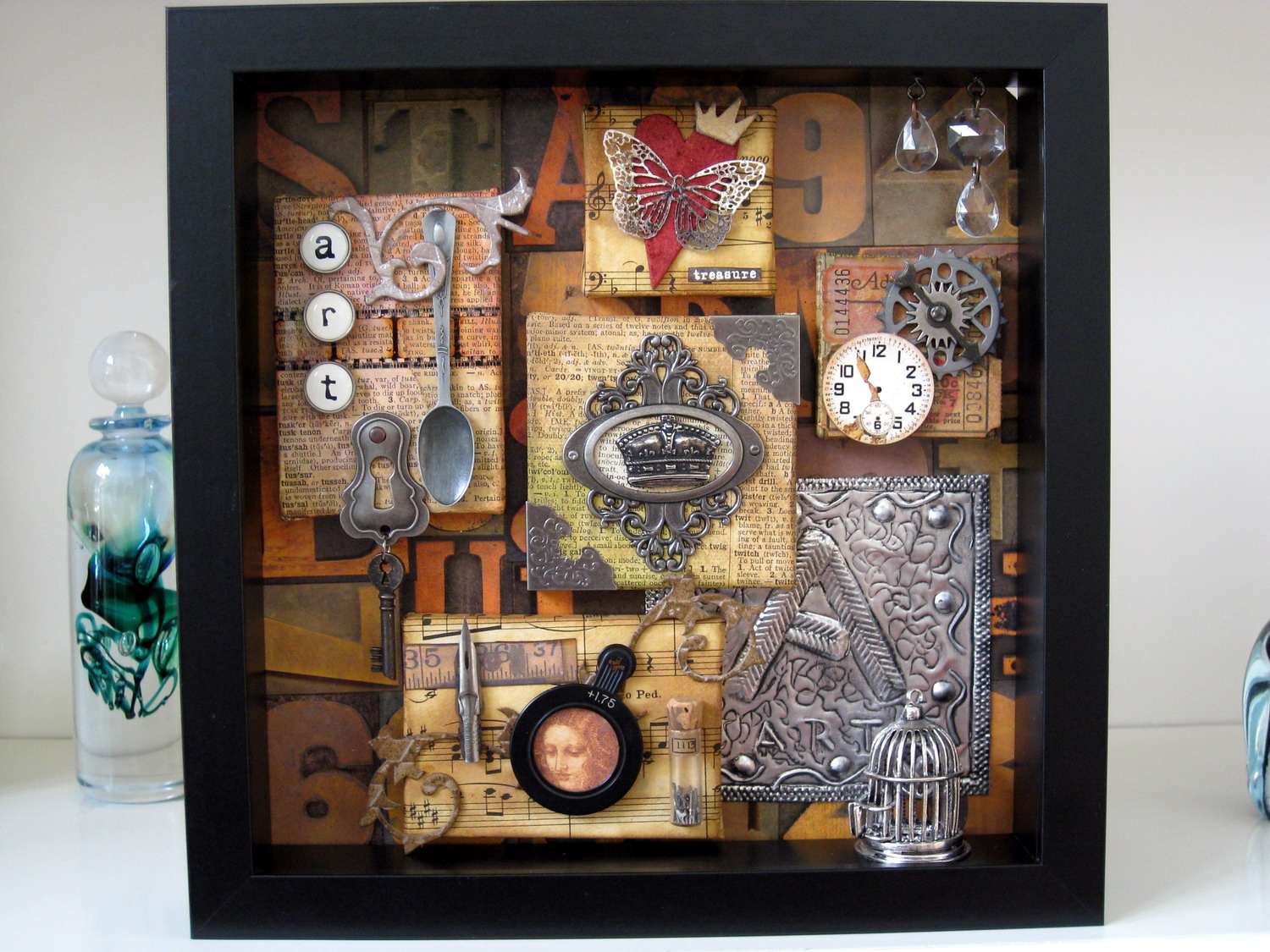 Scraps Of My Life Art Shadow Box