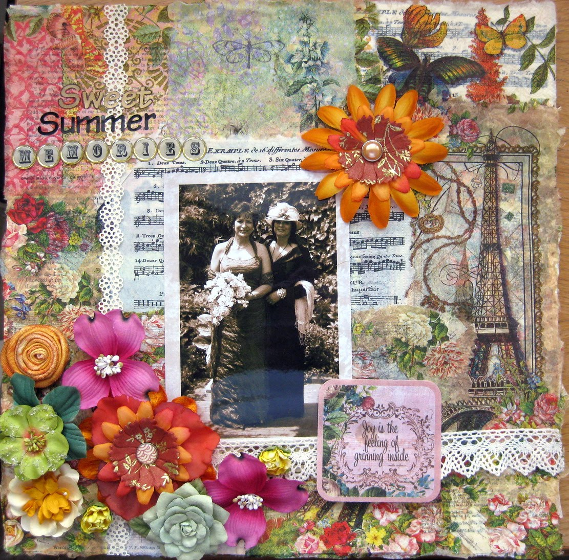 Scraps Of My Life  Paper Napkins Collage