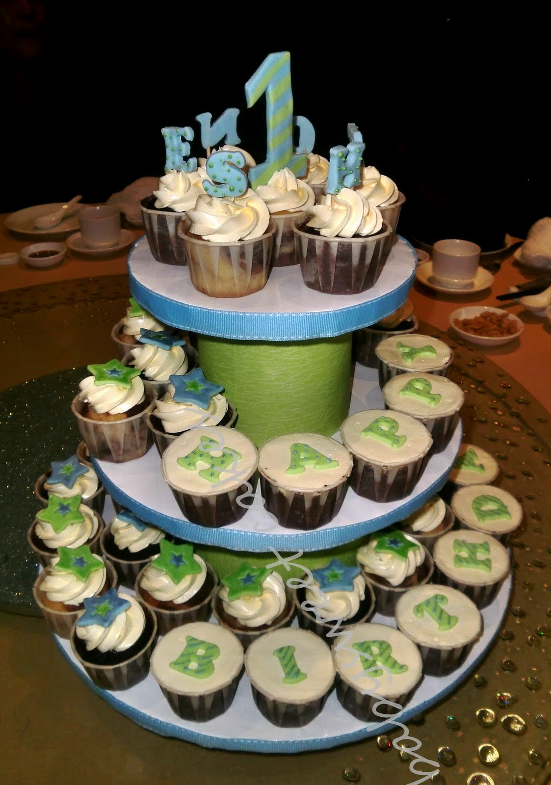 Babysweet Cakes Birthday Cupcake Tiers For 1 Year Old Boy