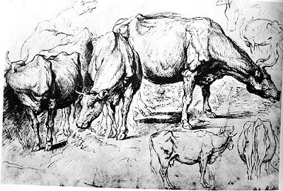 Rubens Drawing of Cows, British Museum