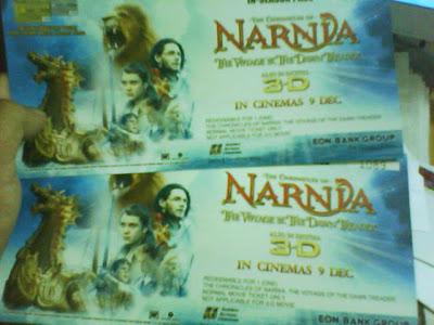 2 Tiket FREE Narnia