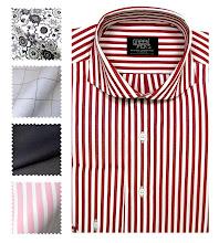 Crimson Bespoke Shirt with English Cutaway Collar
