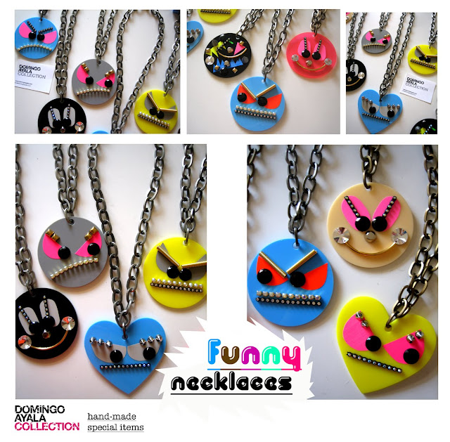 FUNNY NECKLACES Domingo Ayala Handmade