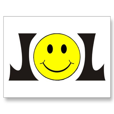 lol smiley face postcard