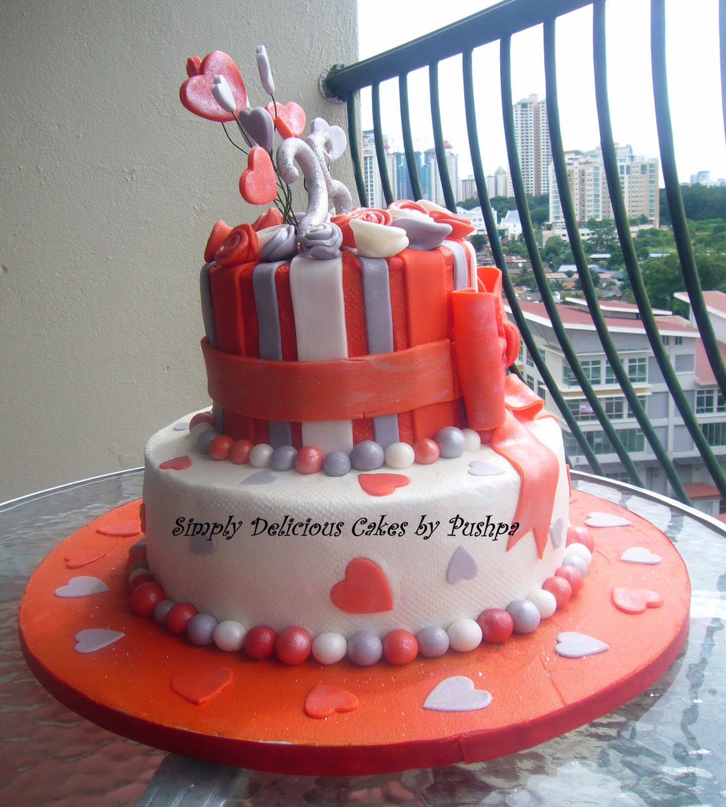 Cake Designs For Silver Jubilee : SIMPLY DELICIOUS CAKES: Silver Jubilee Anniversary