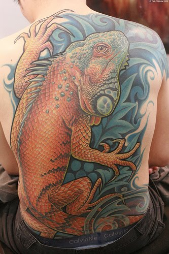 Often the wearer of the tattoos is making a statement of some sort.