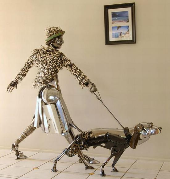 awesome sculptures made out of scrap car parts amazing arts