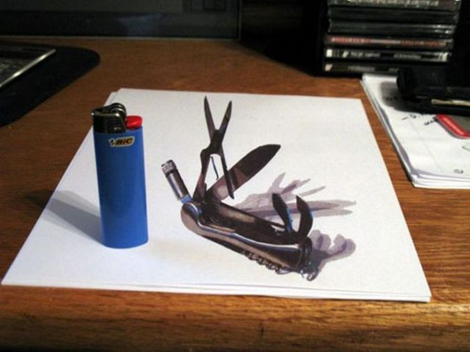Awesome 3d Paper Illusions Amazing Arts